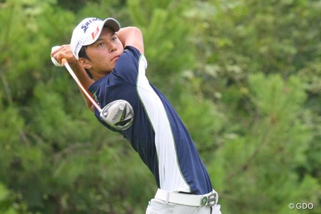 2013年 関西オープンゴルフ選手権 2日目 大堀裕次郎 通算7アンダーでアマチュアの大堀裕次郎が単独首位に立った