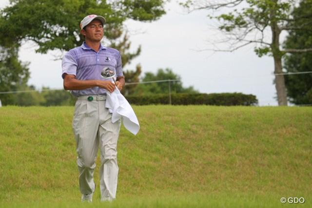 横尾要/2013年 関西オープン2日目 こちらも首位タイでスタートしながら28位タイまで後退した横尾要