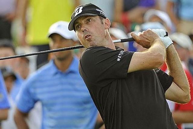2013年 ザ・バークレイズ 2日目 マット・クーチャー 暫定首位に立つマット・クーチャー。このまま第2ラウンドを終えられるか?(Chris Condon/PGA TOUR)