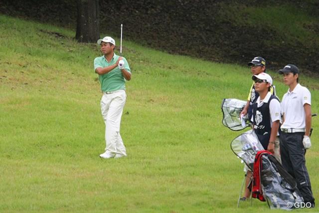 2013年 関西オープン 3日目 池田勇太 大堀裕次郎とのラウンドで2位から5位に後退した池田勇太