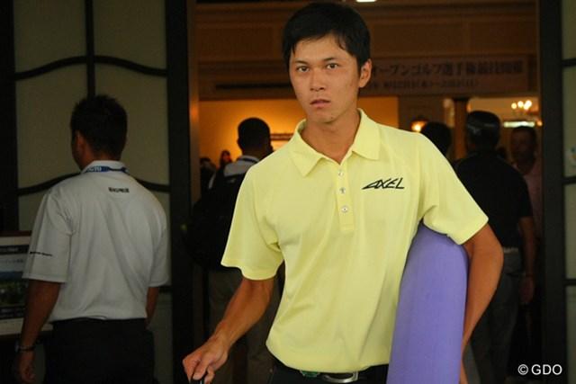 2013年 関西オープン 最終日 大堀裕次郎 中止が決まり、ストレッチポールなどをロッカーから持ち出した大堀裕次郎