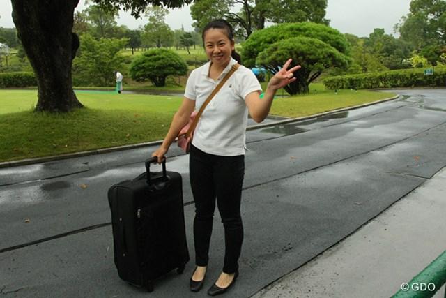 プレスのアルバイトを体験した澤田沙都子(早大2年)