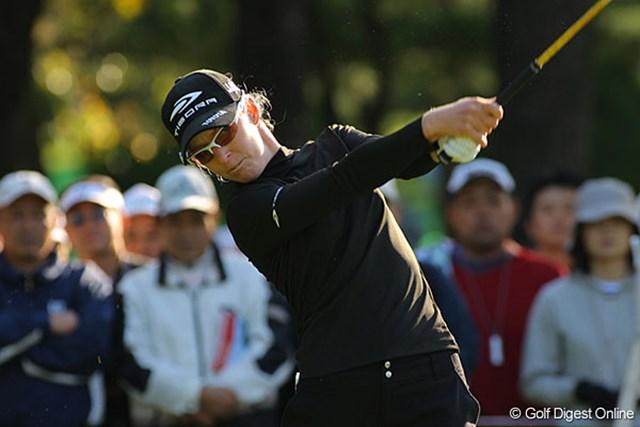 ニッキー・キャンベル この日は2つスコアを落としたが、安定したゴルフで単独3位につけるニッキー・キャンベル