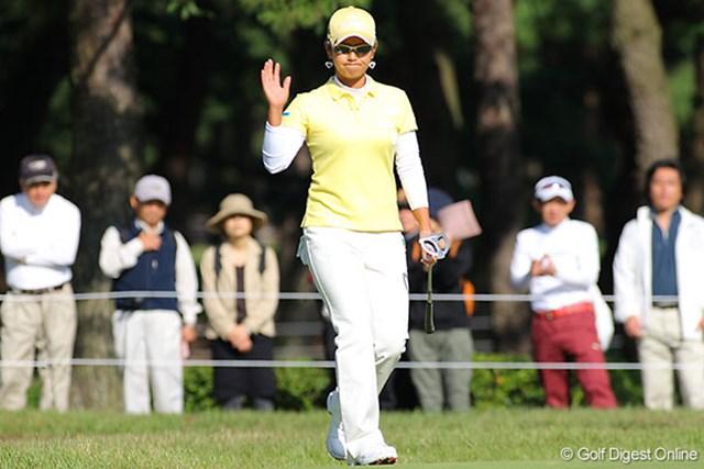 宮里藍 多くのギャラリーを沸かせた宮里藍。我慢のゴルフはお手の物だ。
