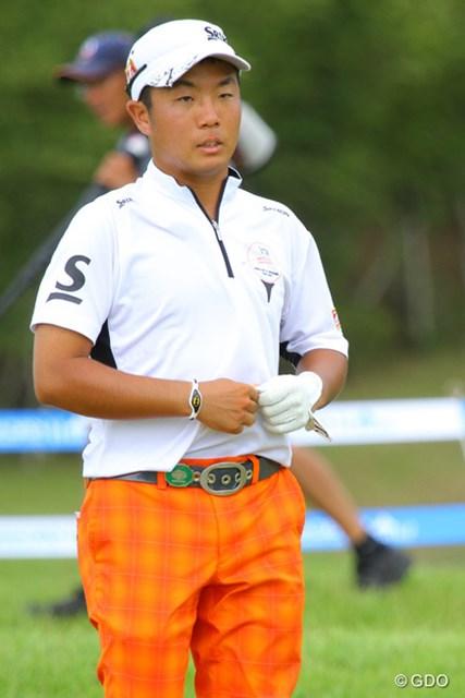 2013年 VanaH杯KBCオーガスタゴルフトーナメント 初日 稲森佑貴 首位タイでスタートした稲盛は、今大会がレギュラーツアーは3試合目。少ないチャンスをものにできるか。