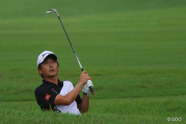 2013年 VanaH杯KBCオーガスタゴルフトーナメン 3日目 冨山聡 日没寸前…ノーボギーで初優勝のチャンスを手にした冨山。