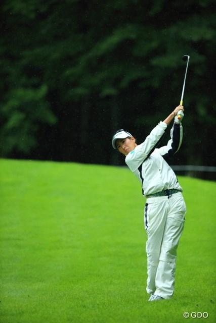 2013年 ニトリレディスゴルフトーナメント 2日目 木戸愛 美しいナマ脚を封印したせいか、残念な結果に。