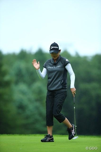 2013年 ニトリレディスゴルフトーナメント 2日目 北田瑠衣 飛ばなくたってショートゲームの安定感抜群だもんな。