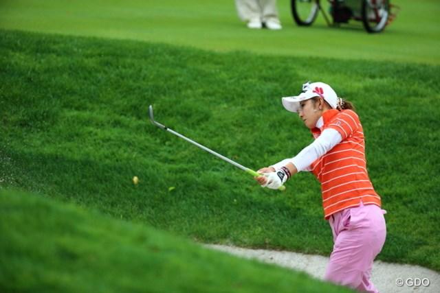 2013年 ニトリレディスゴルフトーナメント 2日目 斎藤愛璃 出ました、ホームラン。