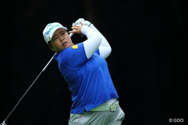 2013年 ニトリレディスゴルフトーナメント 2日目 アン・ソンジュ 今日が誕生日のアン・ソンジュ。逆転優勝へ向け絶好の位置で最終日を迎える
