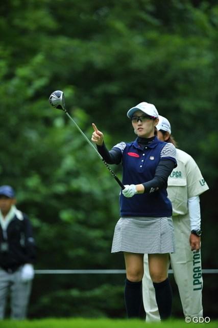 2013年 ニトリレディスゴルフトーナメント 2日目 飯島茜 あ!そういえば昔これ、木で出来てたんだってよ。。って今言うことでもないけど。