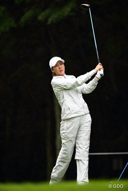 2013年 ニトリレディスゴルフトーナメント 2日目 J.J.ホン 戦う妊婦は美しいのだ。