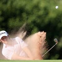 出入りの激しいゴルフながら「67」で単独首位に立ったピーター・ユーライン(Andrew Redington/Getty Images) 2013年 ISPSハンダ・ウェールズ・オープン 3日目 ピーター・ユーライン
