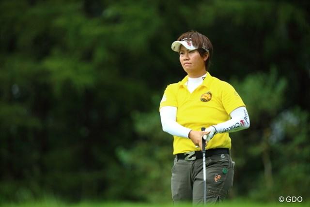 """2013年 ニトリレディスゴルフトーナメント  最終日 福田裕子 自己ベストに並ぶ3位で終えた福田裕子。次の目標は当然""""初優勝""""だ"""