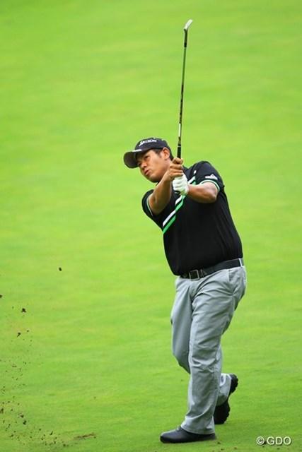 2013年 フジサンケイクラシック 2日目 甲斐慎太郎 かなり出入りの激しいゴルフでしたが。何とかイーブンパーで耐えて5位タイです。