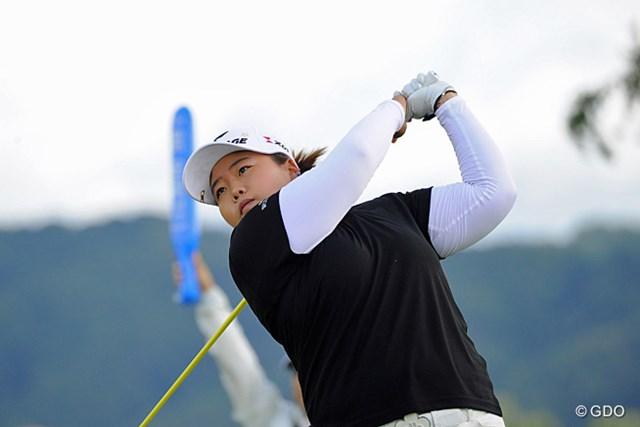2013年 ゴルフ5レディスプロゴルフトーナメント 初日 アン・ソンジュ 好調をキープし、初日から首位につけたアン・ソンジュ