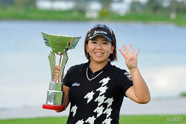 2013年 ゴルフ5レディスプロゴルフトーナメント 最終日 吉田弓美子 伸ばし合いとなった最終日、吉田弓美子がプレーオフを制し今季3勝目を飾った。