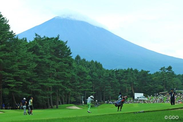ようやく最終日に富士山が少し顔を出してくれました。