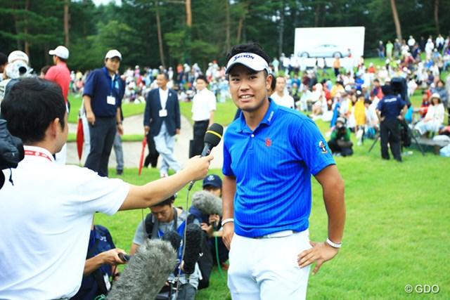 今日は松山くんらしくないゴルフでしたが、今季3勝目おめでとう!優勝インタビューで、ホッとした笑顔がやっと出ましたね。