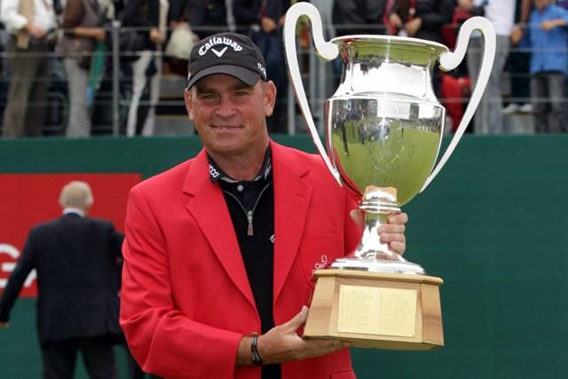 11年以来となる大会2勝目。ようやくの今季初勝利を手にしたT.ビヨーン(Ross Kinnaird /Getty Images)