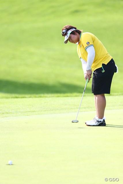 2013年 日本女子プロゴルフ選手権大会コニカミノルタ杯 初日 酒井美紀 好調なゴルフを続ける酒井美紀だが、目標はあくまで謙虚だ