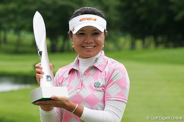 昨年、2週連続勝利で賞金女王レースに名乗りを上げた張娜(チャンナ)