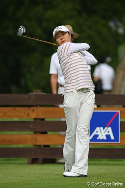 5バーディを奪い単独首位スタートをきった韓国のイ・ジウ