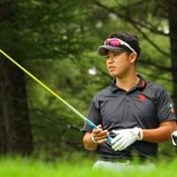 レモンイエローのニューシャフトをテスト中…松山が今季4勝目を狙って札幌ゴルフ倶楽部 輪厚コースを戦う。 2013年 ANAオープンゴルフトーナメント 事前 松山英樹