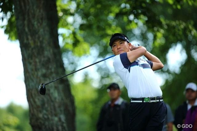 2013 ANAオープンゴルフトーナメント 初日 丸山茂樹 丸山は今季2試合目。依然として故障と戦いながらのプレーが続く。