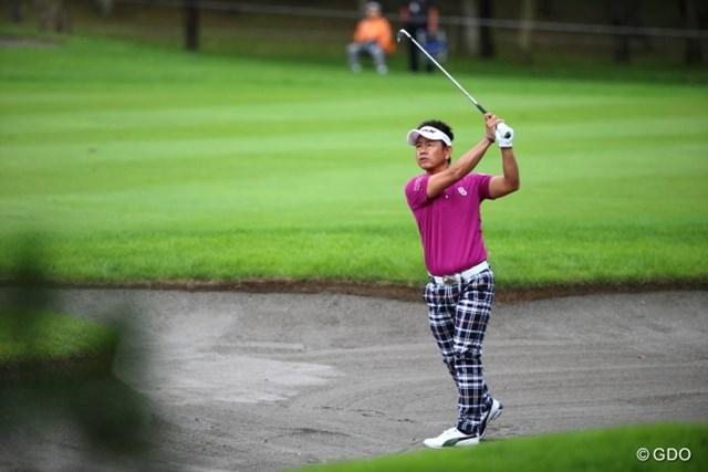 2013 ANAオープンゴルフトーナメント 初日 藤田寛之 藤田は中盤に2ボギーを叩いて一時後退したが、最終9番でバーディを決め連覇へ上々の滑り出し。