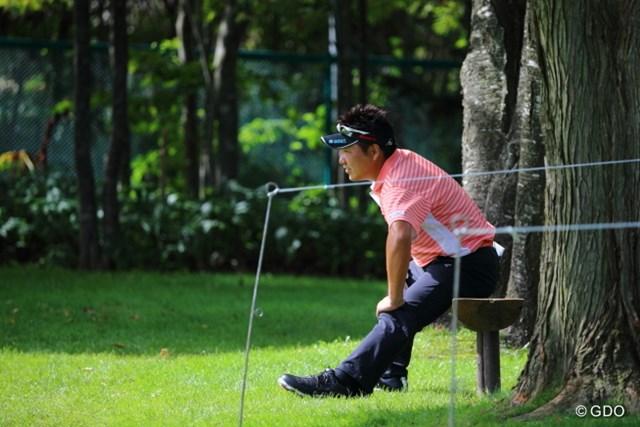 2013 ANAオープンゴルフトーナメント 初日 高山プロ 左足首が痛かったらしく、1R終了後、残念ながら棄権。