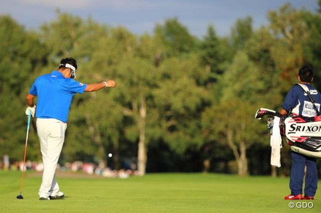 2013 ANAオープンゴルフトーナメント 初日 松山英樹 最終ホール、痛恨の暫定球。でも結果はセーフだった