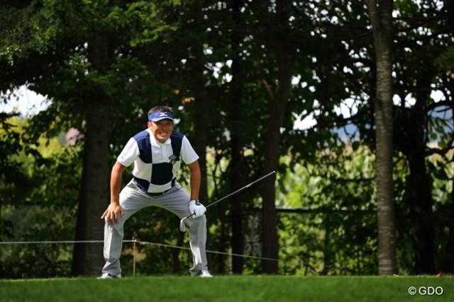 2013 ANAオープンゴルフトーナメント 初日 上田諭尉 あとちょっとでホールインワン。本気で悔しがっていた。