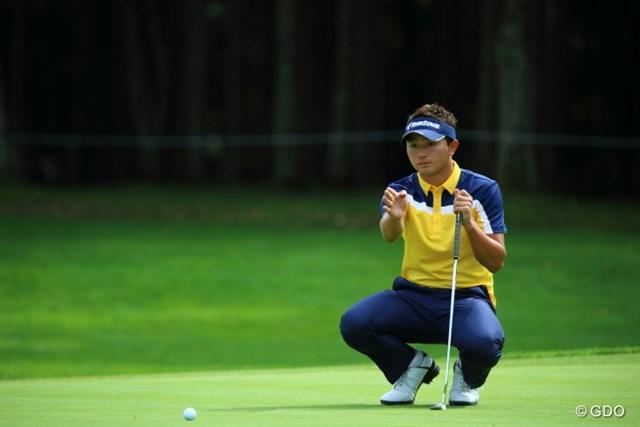 2013 ANAオープンゴルフトーナメント 初日 片岡大育 土俵入り。