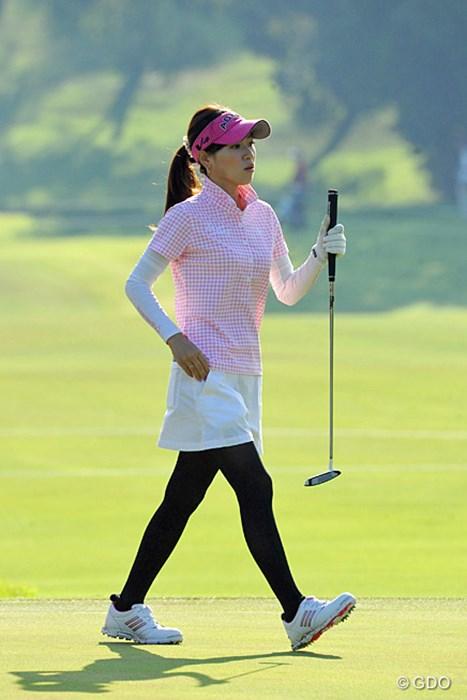 マコマコ~!見るたびに痩せていってるんとちゃうか~?ますます女に磨きが…。この調子でゴルフにも磨きをかけたってや~!100位T 2013年 マンシングウェアレディース東海クラシック 初日 竹村真琴
