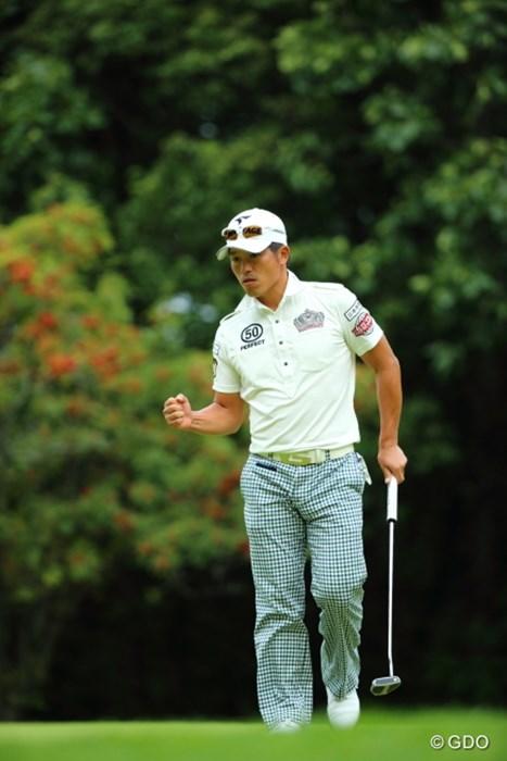 途中ガッツあるプレイも見せたけれど出入りが激しく予選落ち。 2013年 ANAオープンゴルフトーナメント 2日目 清田太一郎