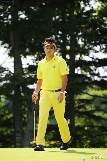2013年 ANAオープンゴルフトーナメント 3日目 松山英樹 グリーン上で苦しんだ松山。トップとは5打差で最終日を迎える。