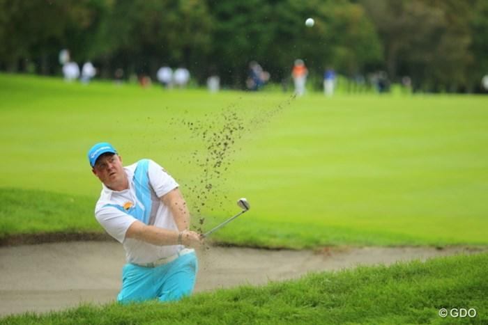 飛ばしだけじゃなくて小技も得意だよーん。 2013年 ANAオープンゴルフトーナメント 3日目 カート・バーンズ