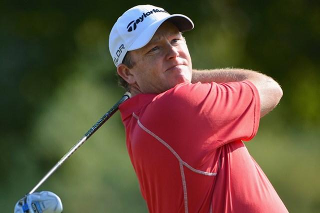 安定したゴルフで単独首位に浮上したマーカス・フレーザー(Stuart Franklin/Getty Images)