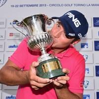サンデーバックナインで猛チャージ! ツアー通算2勝目を手にしたJ.ケン(Stuart Franklin /Getty Images) 2013年 イタリアオープン 最終日 ジュリアン・ケン