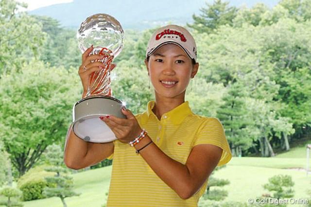 昨年のこの大会で、賞金ランキングでもトップに躍り出た上田桃子