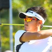 中国出身のリュウ。口元にヒゲを蓄えてはいますが…まだ16歳! 2013年 アジアパシフィックオープンゴルフチャンピオンシップ パナソニックオープン 2日目 リュウ・アンイ