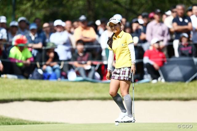 2013年 ミヤギテレビ杯ダンロップ女子オープンゴルフトーナメント 最終日 宮里藍 15番で痛恨のダブルボギー。視界のスコアボードが気の緩みを招いた