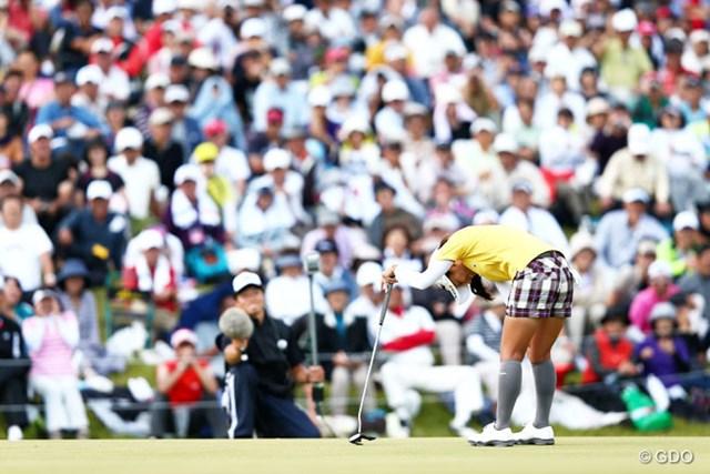 2013年 ミヤギテレビ杯ダンロップ女子オープンゴルフトーナメント 最終日 宮里藍 すべては18番が物語っているのかな