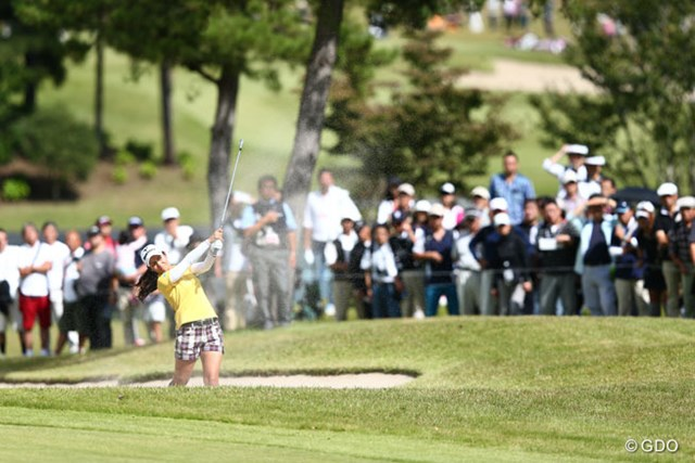 2013年 ミヤギテレビ杯ダンロップ女子オープンゴルフトーナメント 最終日 宮里藍 バンカーショットも難無くクリアしてこのままいけばコースレコードも・・・