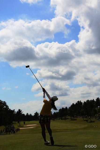 2013年 ミヤギテレビ杯ダンロップ女子オープンゴルフトーナメント 最終日 宮里藍 高いフォローも魅力だね
