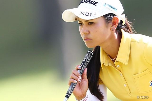 2013年 ミヤギテレビ杯ダンロップ女子オープンゴルフトーナメント 最終日 宮里藍 真剣な眼差し