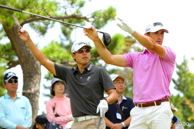 2013年 アジアパシフィックゴルフチャンピオンシップ パナソニックオープン 最終日 デビッド・オー ウェイド・オームズビー 右でーす。