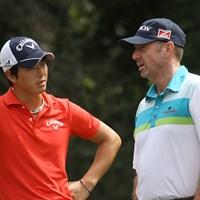 大会3日目は石川遼と回ったロッド・パンプリング。PGAツアー2勝の技術を随所に見せていた 2013年 ウェブドットコムツアー選手権 3日目 ロッド・パンプリング