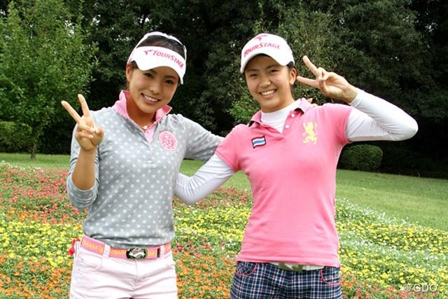 堀奈津佳(左)と堀琴音が姉妹で参戦。プロとアマで伸び盛りの2人の健闘に注目